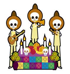 skull musicians vector image