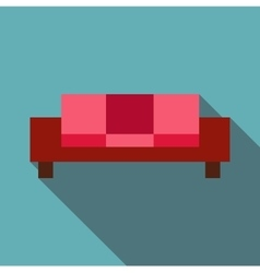 Sofa icon flat style vector image vector image