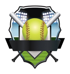 Softball Champs Badge Emblem vector image vector image