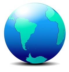 South America and Africa Global World vector image