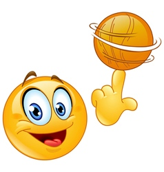 spinning ball emoticon vector image