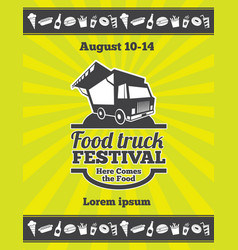 Street food festival design of poster vector