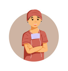 Surgeon doctor person in uniform portrait isolated vector