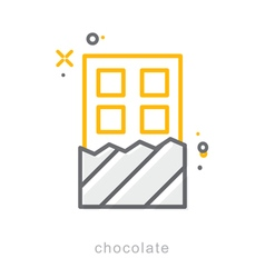 Thin line icons Chocolate vector