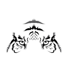 Tiger head outline vector