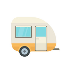 Travel trailer icon flat style vector