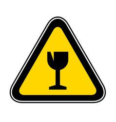 triangular warning hazard symbol vector image