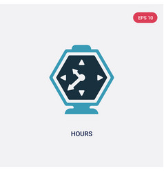 Two color hours icon from user interface concept vector
