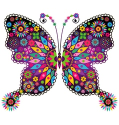 vivid colorful butterfly vector image