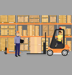 Warehousing goods and vector