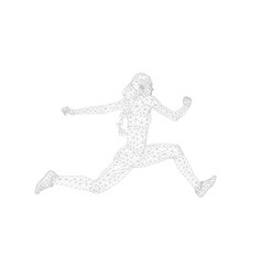 women athlete jumper in triple jump vector image