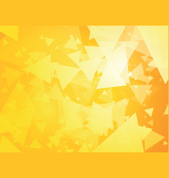 yellow triangle background vector image