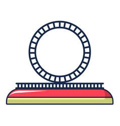 attraction wheel icon cartoon style vector image
