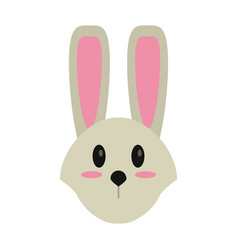 cute easter face bunny vector image vector image