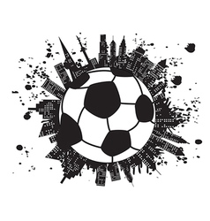 grungy football city vector image vector image