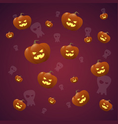 happy halloween banner seamless pattern with vector image