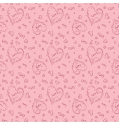 Pink romantic pattern vector image vector image