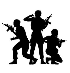 soldiers fighting together vector image vector image