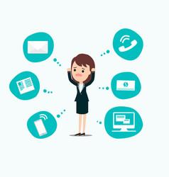 businesswoman stress pressure business mental vector image vector image