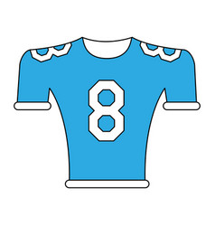american football shirt vector image