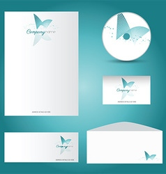 decorative stationery mock up 2901 vector image vector image