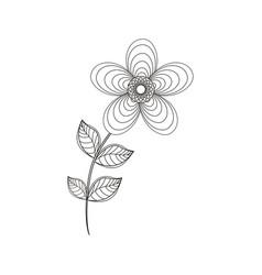 geranium flower decoration line vector image vector image