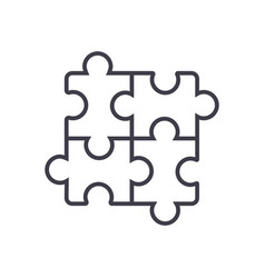puzzlejigsaw line icon sign vector image