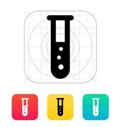 Test tube with bubbles icon vector image