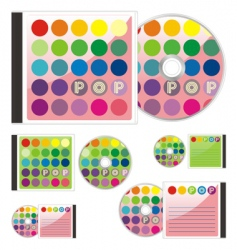 compact disks with pop layout vector image vector image