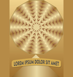 golden abstract background with circle shape in vector image