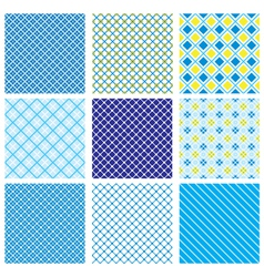 Seamless fabric checked pattern vector