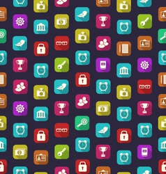 Seamless Pattern with Business and Financial vector image vector image
