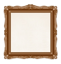 Vintage Picture Frame Isolated on White Background vector image vector image