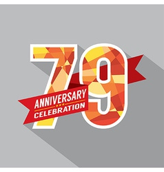 79th Years Anniversary Celebration Design vector image