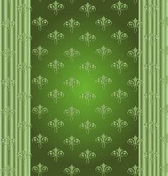 Abstract floral ornamental border vector