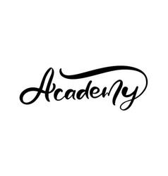 Academy logo calligraphy school text vector