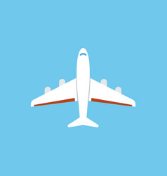 Airplane icon - flat isolated vector