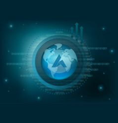 Ardor cryptocurrency coin global background vector