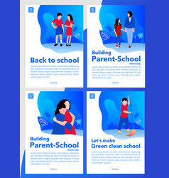 back to school cover books or pdf vector image