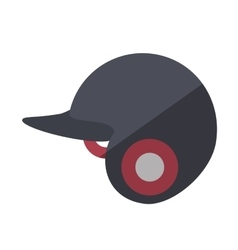 baseball helmet equipment uniform icon vector image