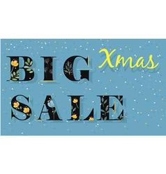 Big Xmas Sale Card for retail vector