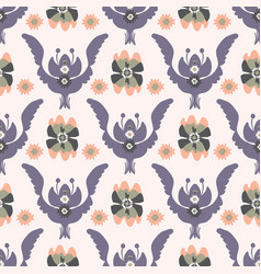 boho purple floral pattern vector image