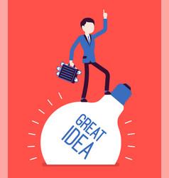 Businessman great idea vector