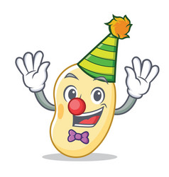 Clown soy bean mascot cartoon vector