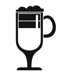 coffee latte icon simple style vector image