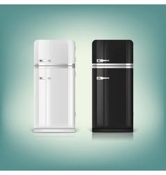 Collection of stylish retro refrigerators vector image