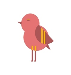 Colorful Cute Bird vector image
