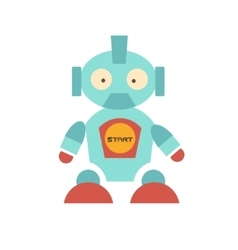 Cute Robot with red shoes vector