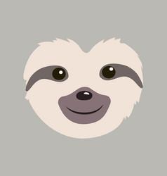 Cute sloth cartoon vector