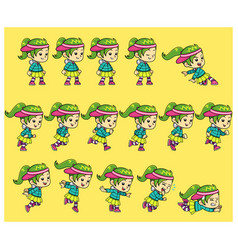 dance girl game sprites vector image